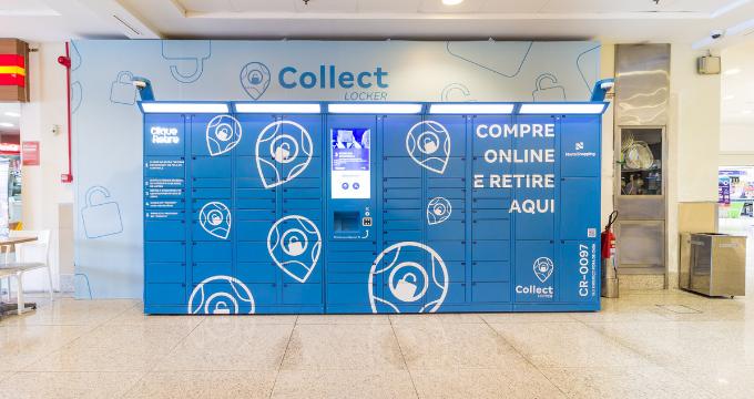 Foto e-box armário inteligente Clique Retire com customização visual para negócios