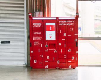 Customização do ebxox Clique Retire para empresas em vermelho