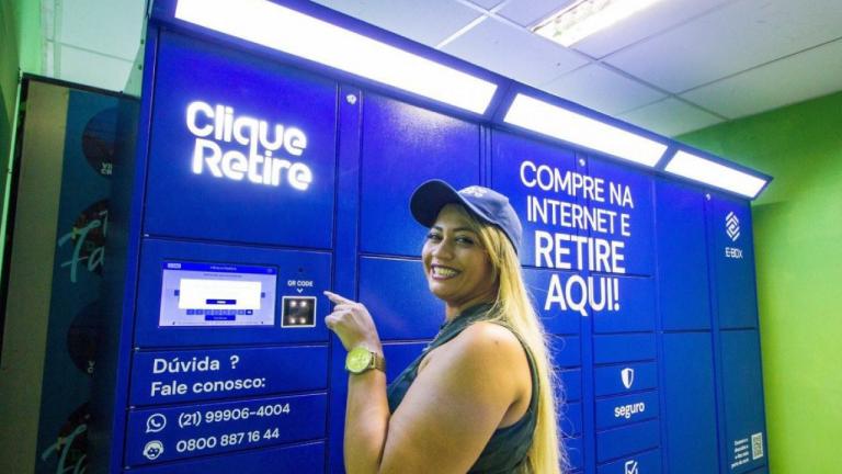 Moradores da Vila Cruzeiro podem retirar compras feitas pela Internet em e-boxes