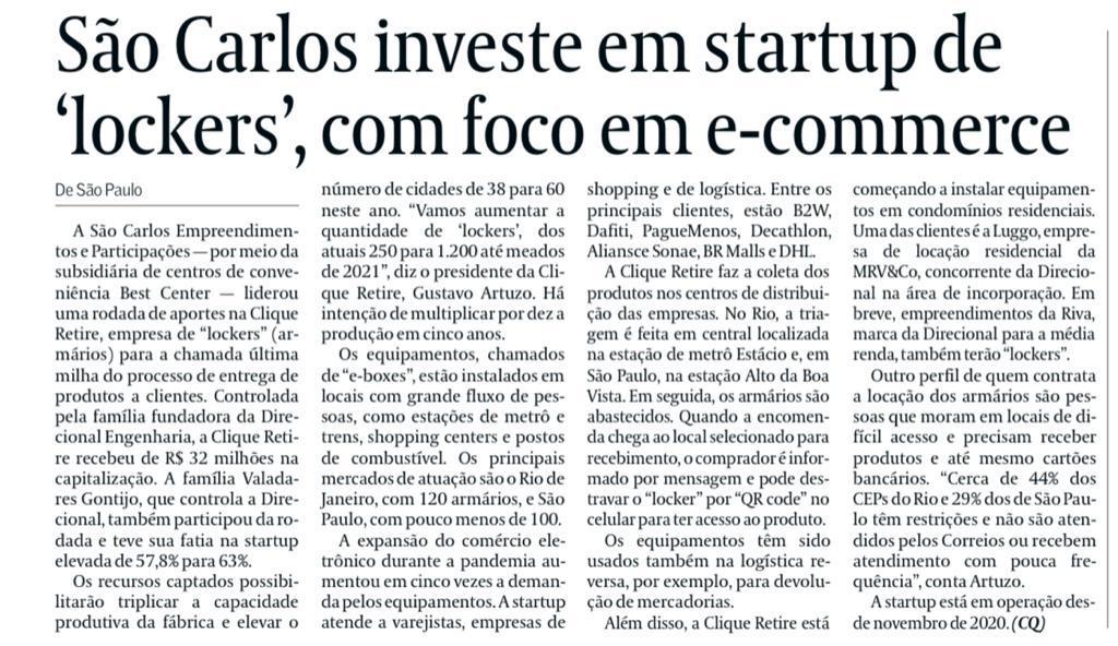 Com recursos captados, startup vai triplicar capacidade de produção de máquinas e chegar a 60 cidades em 2021